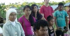 Siostra Sofia i ekpisa misjonarzy z katechistami